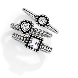 Brighton sterling silver ring set
